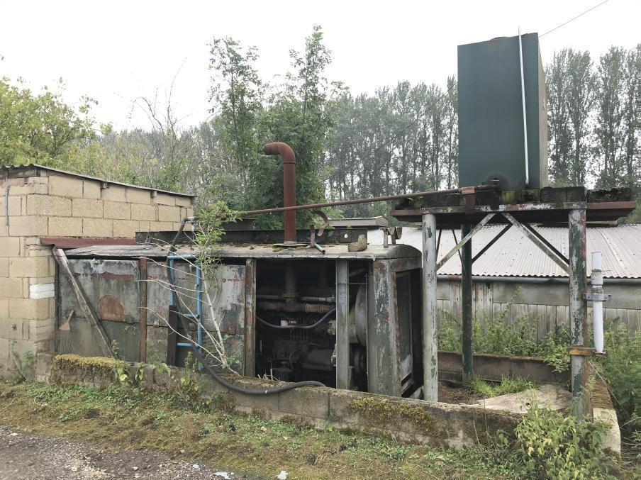 a generator with fuel tank found during a walkover